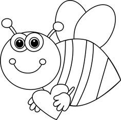 Bee clip art black and white. C b cd d