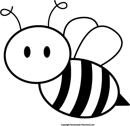 R$ png black and white. Honey bee clipart kid