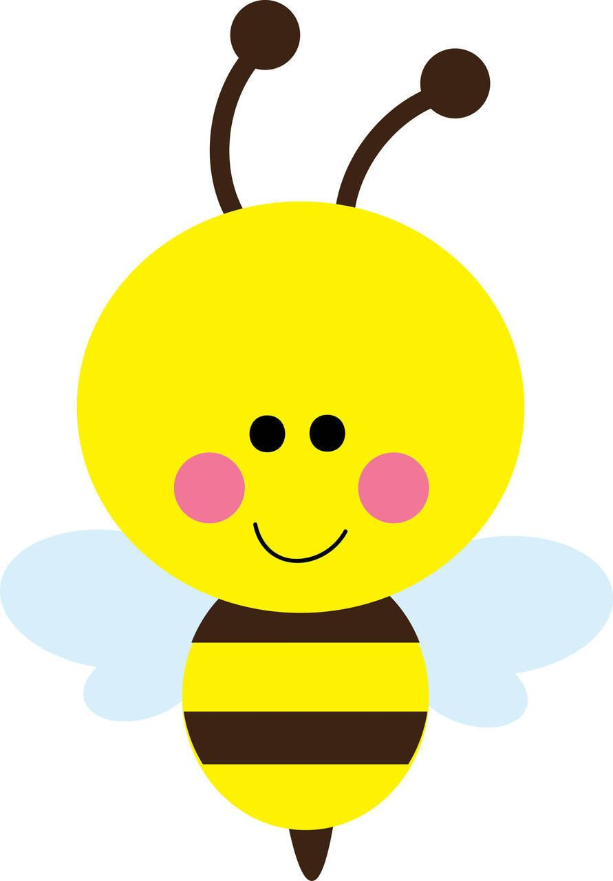 Bee clip art bumble bee. Free vector for download