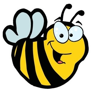 Bee clip art bumble bee. Clipart free all rights