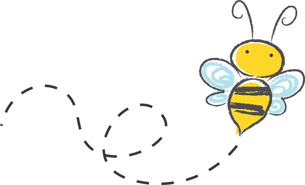 bee clip art whimsical