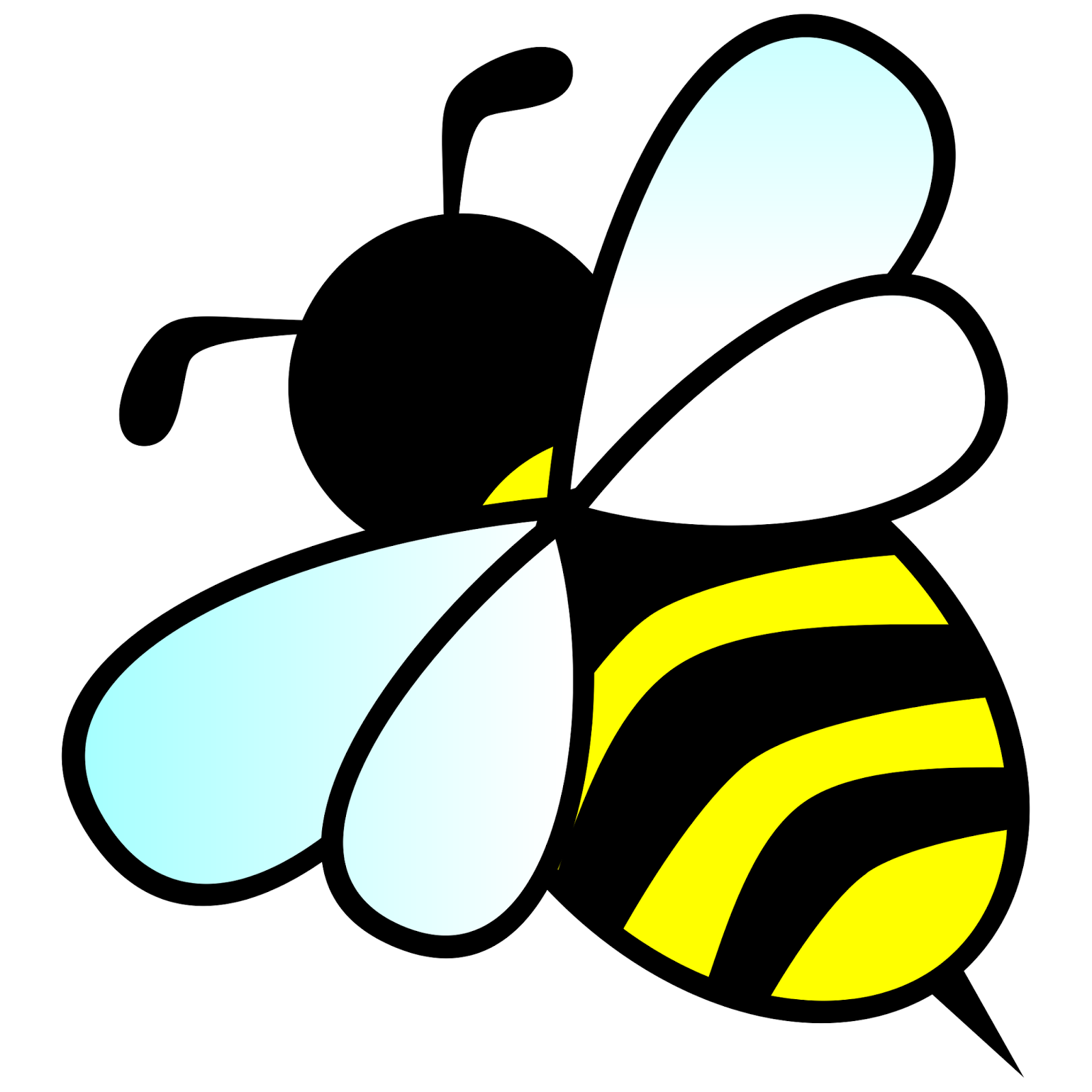 Bee clip art bumble bee. Silhouette at getdrawings com