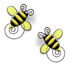 Bee clip art butterfly. Free spring mother s