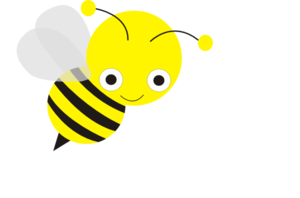Bee clip art clear background. Clipart pencil and in