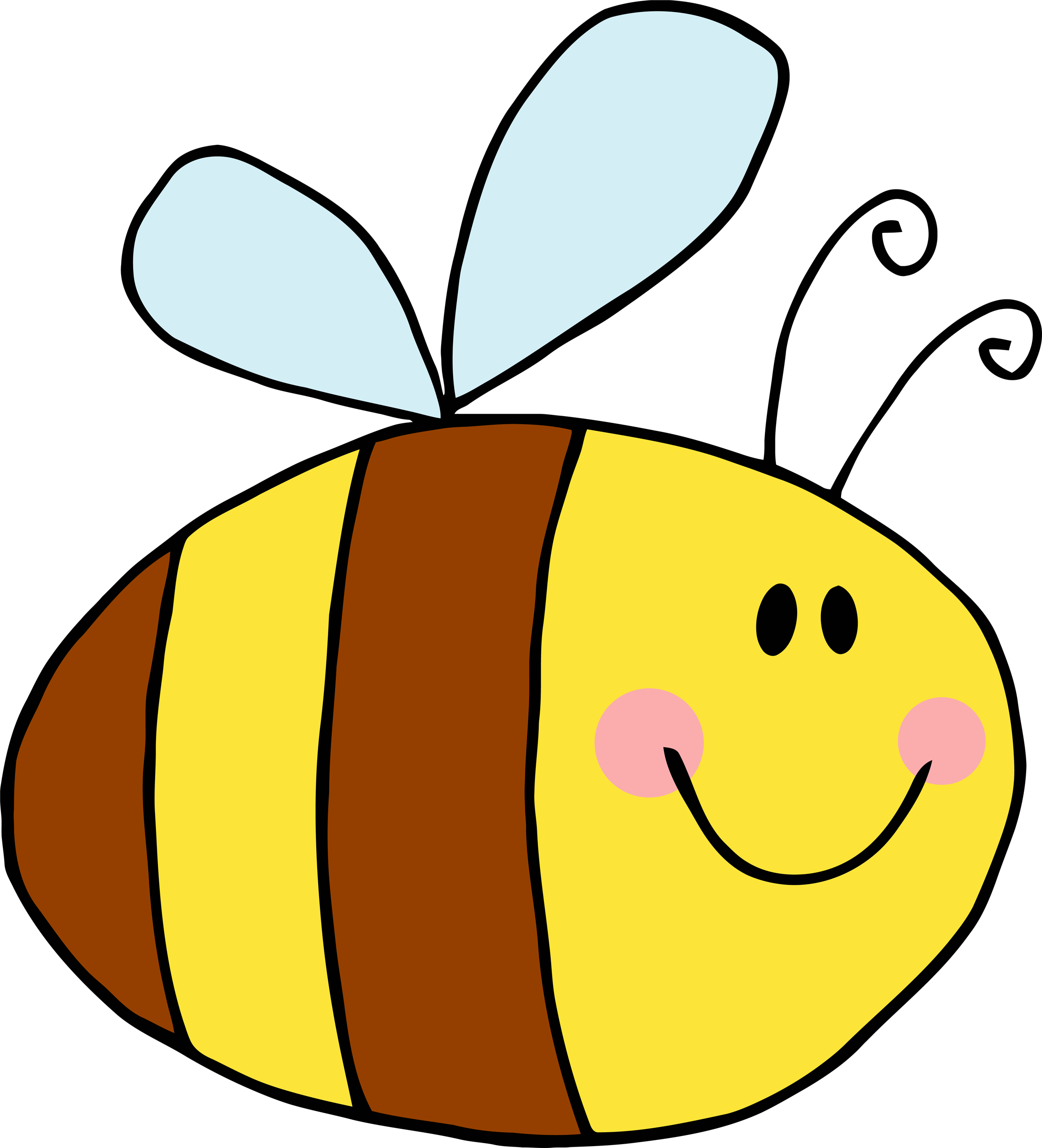 Bees transparent easy cartoon. A picture of bee