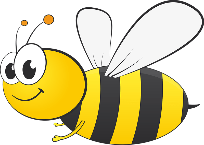 Bee clip art clear background. Field trip clipart transparent