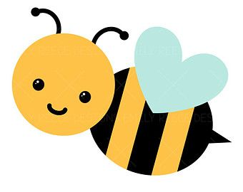 Bee clip art cute. Bumblebee buzz honey bugs