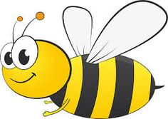 Bee clip art cute. Cartoon image with big