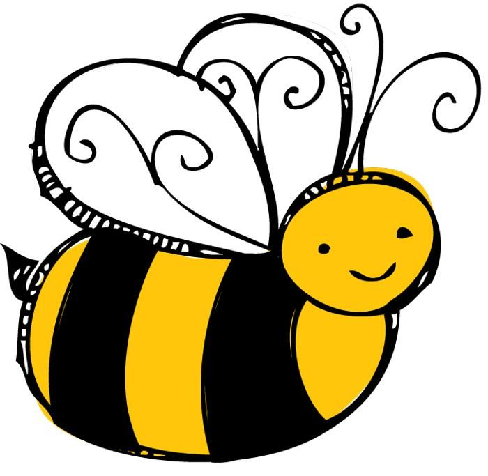 Bee clip art honey bee. Bees clipart clear background