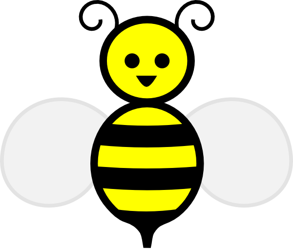Bee clip art honey bee. At clker com vector