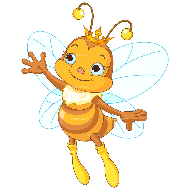 Bee clip art honey bee. Queen clipart