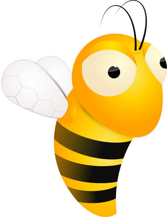 Free graphics bumble bees. Bee clip art insect image freeuse
