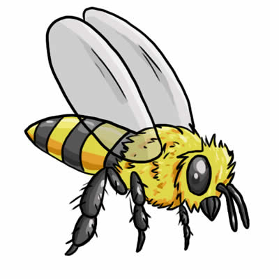 Bee clip art insect. Free bees images download