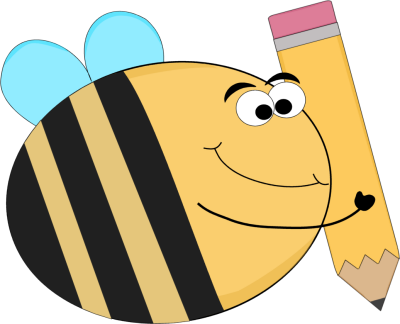 Bee clip art insect. Images funny with a