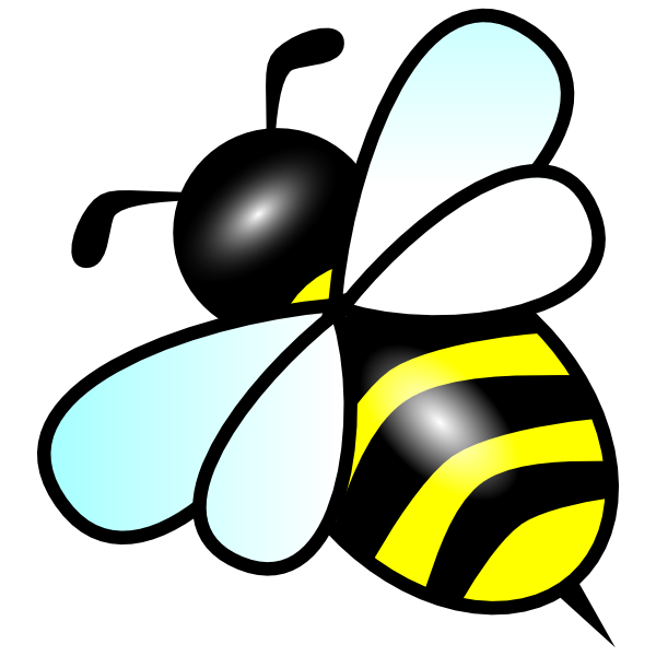 At clker com vector. Bee clip art insect picture free