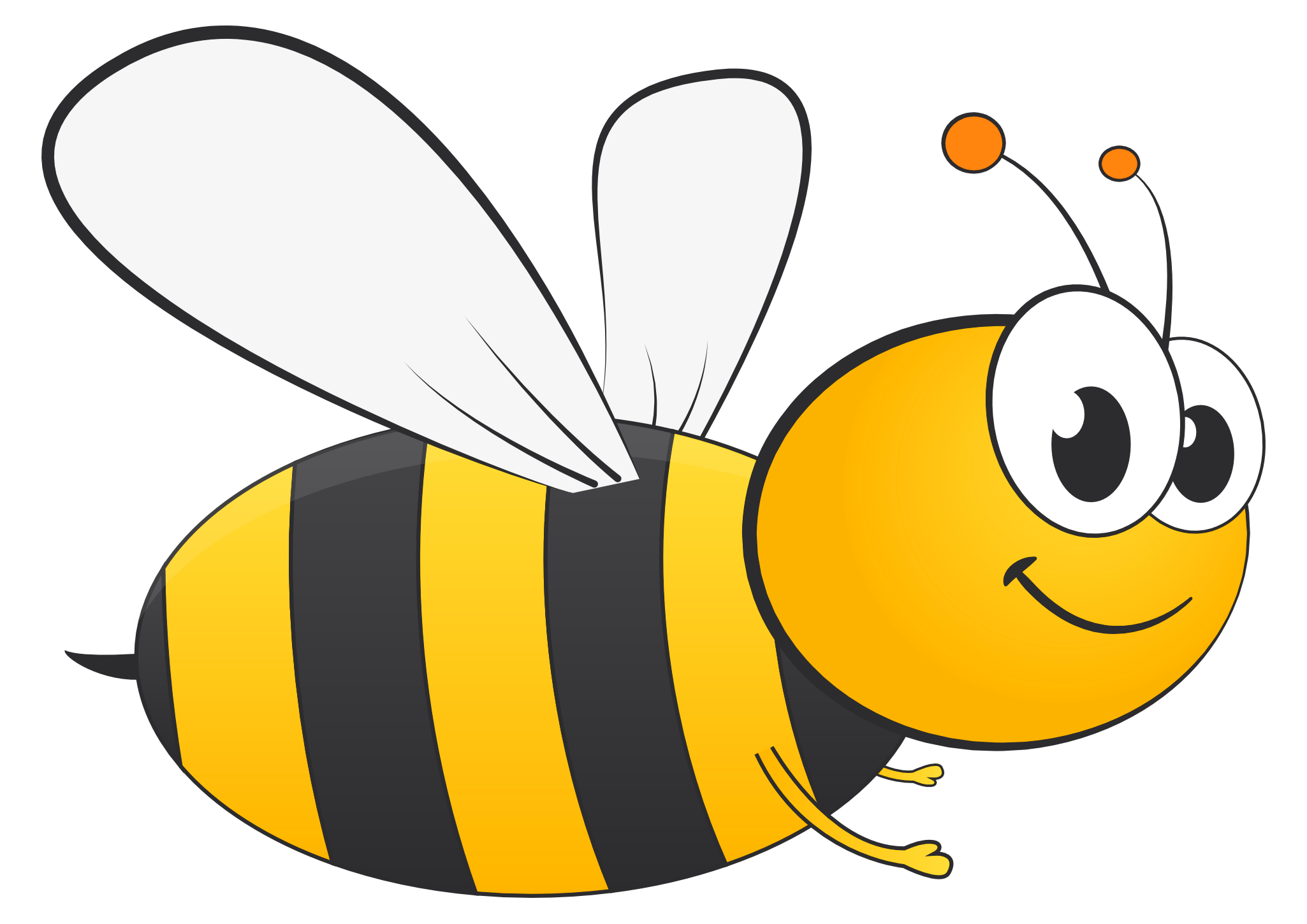 Free honey transparent images. Cartoon bee png image black and white download