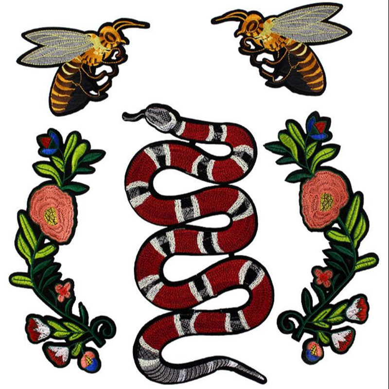 Bee clip art realistic. Large embroidered patch sew