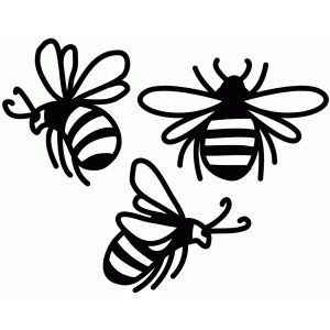 Bee clip art silhouette. I think m in