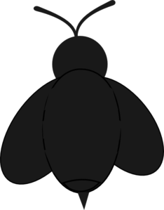 Bee clip art silhouette. Free cliparts download