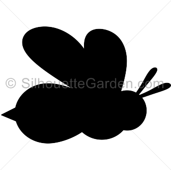 Bee clip art silhouette. Download free versions of