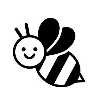 Bee clip art silhouette. Free vector silhouetteac