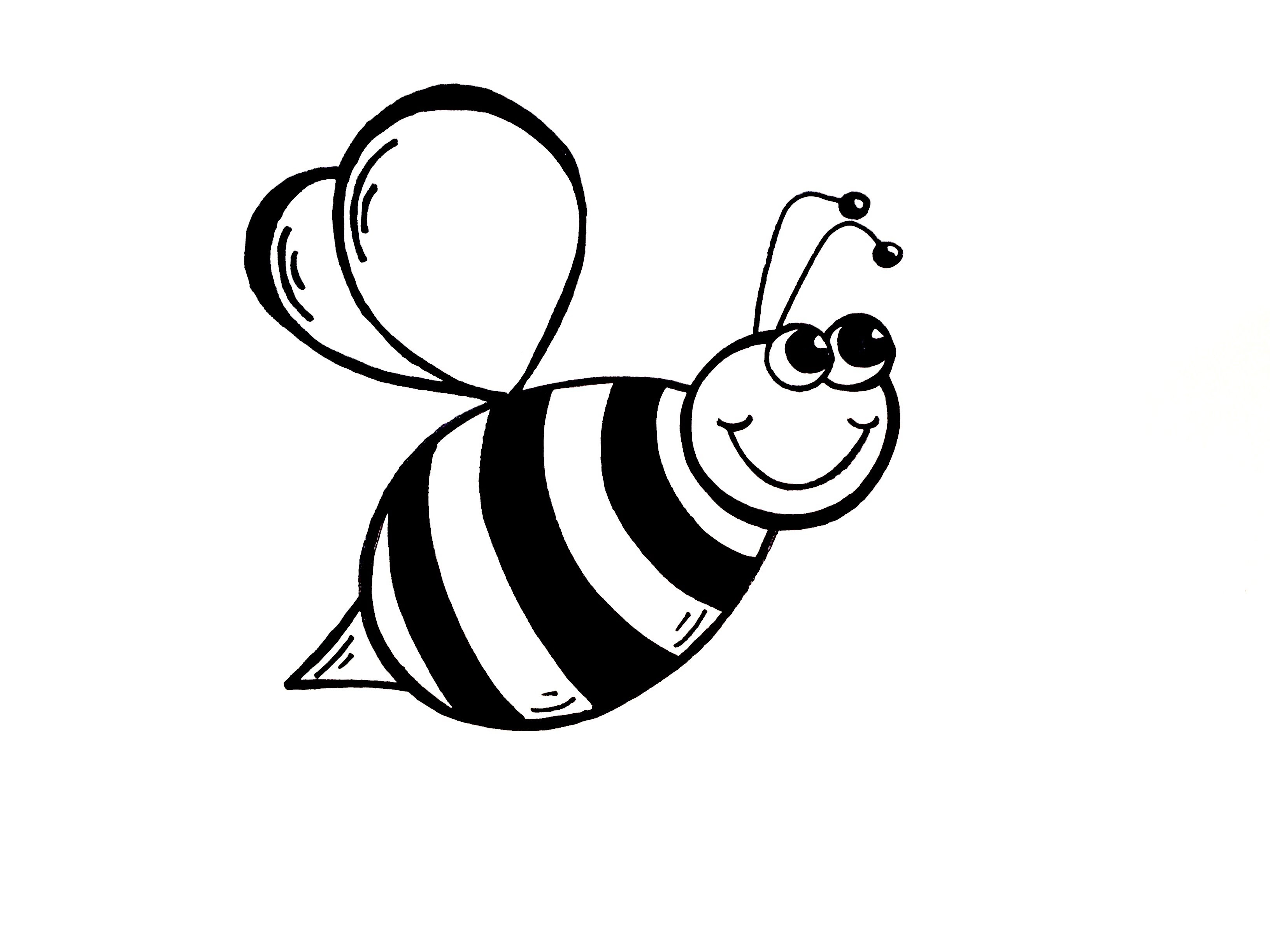 Bee clip art simple. Bumble drawing lesson how