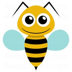 Bee clip art simple. Clipart ka motyle owady