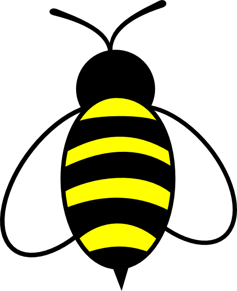 Bee clip art simple. Drawing at getdrawings com