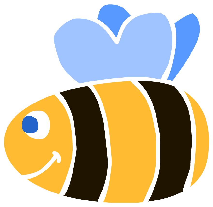 Bees transparent easy cartoon. Simple free clipart