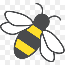 Bee clip art simple. Hand drawn cartoon yellow