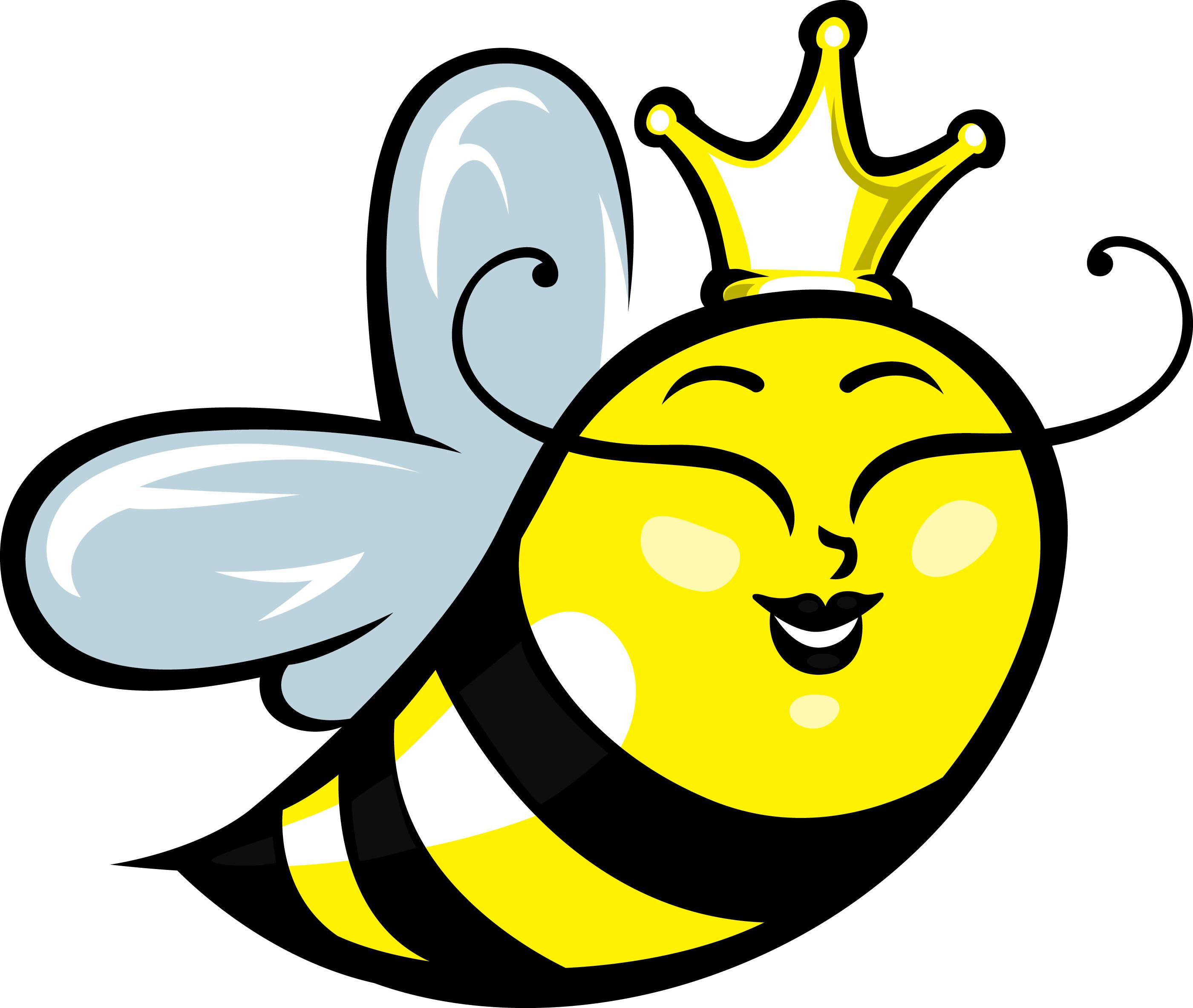 Bee clip art simple. Clipart of cartoon bees