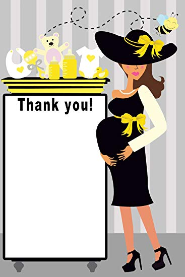 Bee clip art thank you. Amazon com blank cards