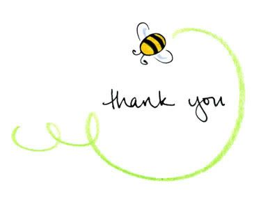 Bee clip art thank you. Best images on
