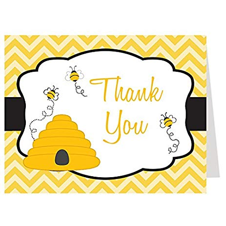 Amazon com cards bumble. Bee clip art thank you image royalty free library