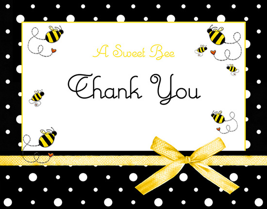 Bee clip art thank you. Bumblebee cards sweet buzz