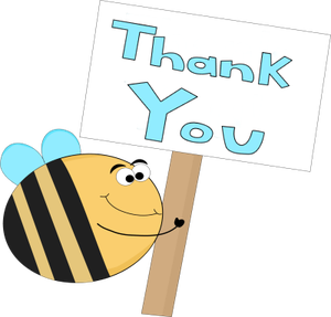 Bee clip art thank you. Thanks for a grape