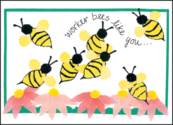Bee clip art thank you. Cards for volunteers gifts