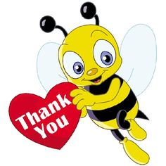Pin by puddykat on. Bee clip art thank you vector stock