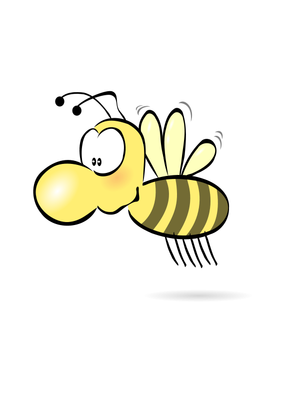 Bee clip art transparent background. Free stock photo illustration