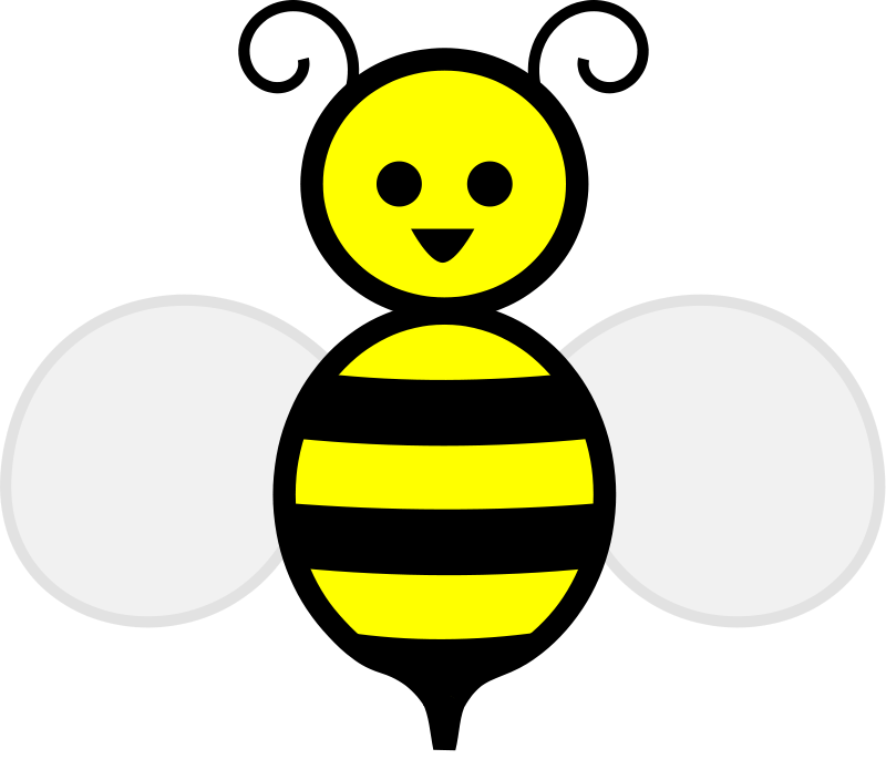 Bee clip art clear background. Free stock photo illustration