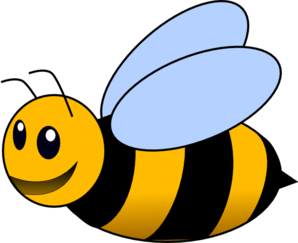 Bee clip art transparent background. At clker com vector