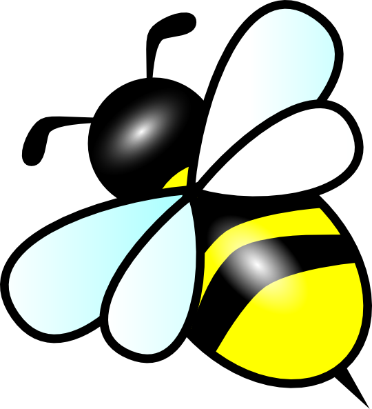 Bee clip art clear background. Small at clker com