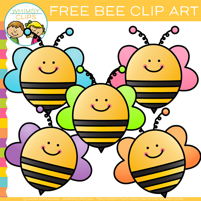 Bee clip art whimsical. Free images illustrations whimsy