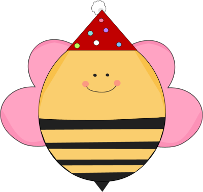 Bee clip art whimsical. Girl birthday in a