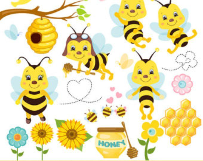 Bee clip art whimsical. Honey clipart bees bumble