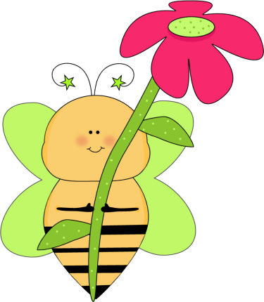 Bee clip art whimsical. Flower green star with