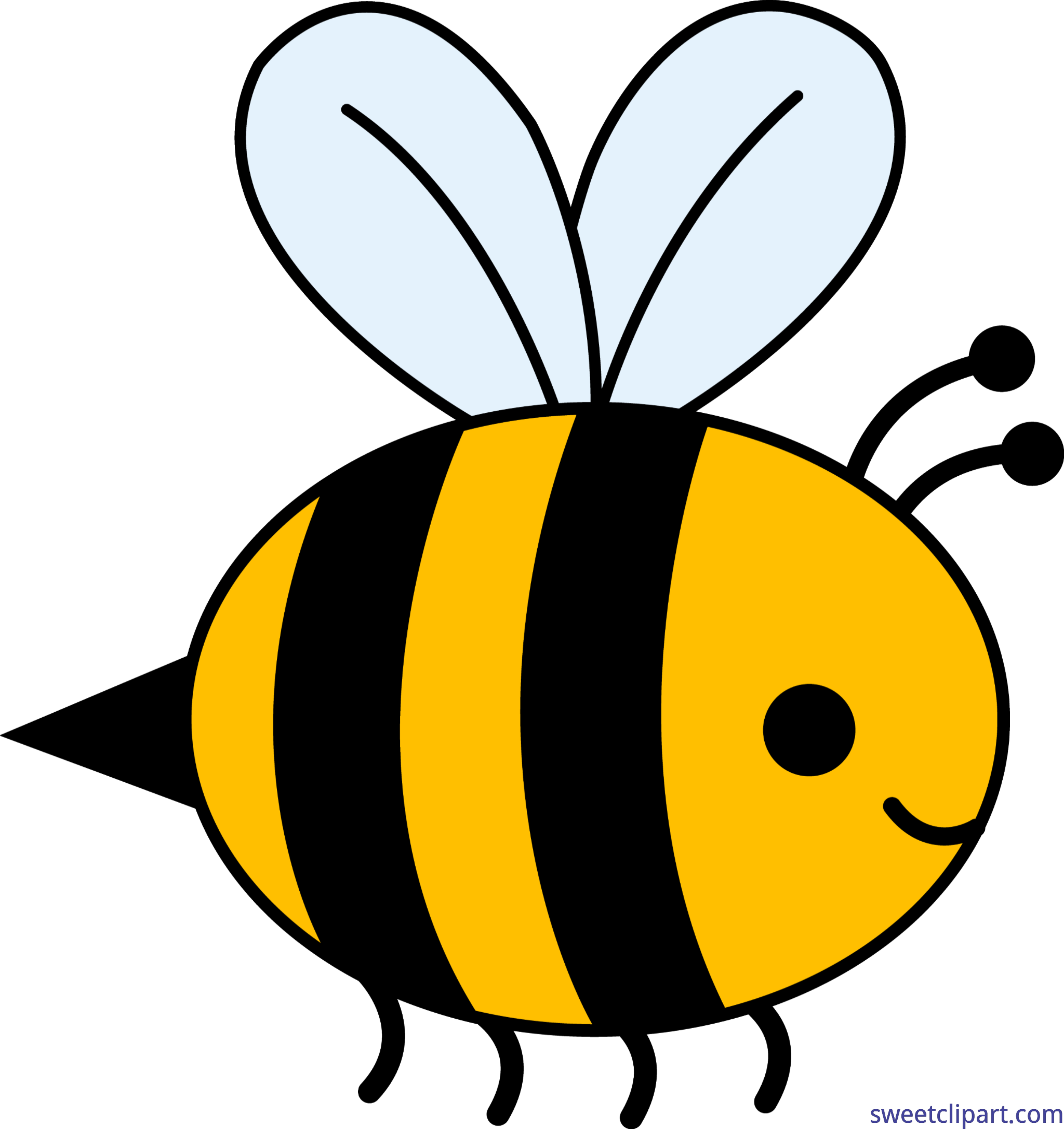 Bumble art sweet. Bee clip vector library download