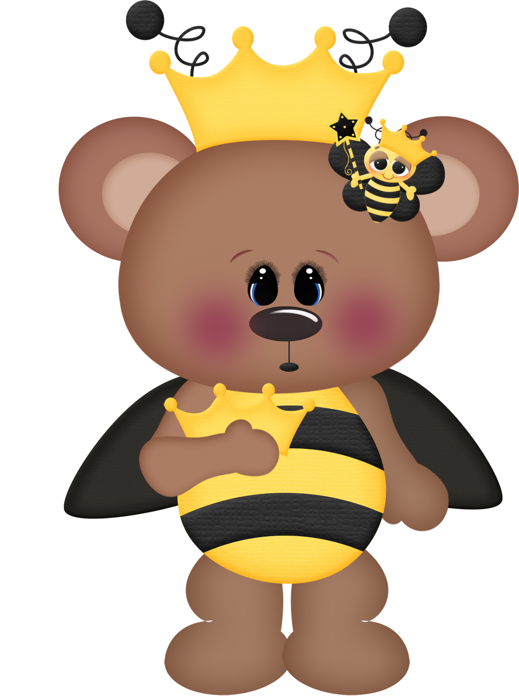 Bee clipart bear. Pin by unloveable tum