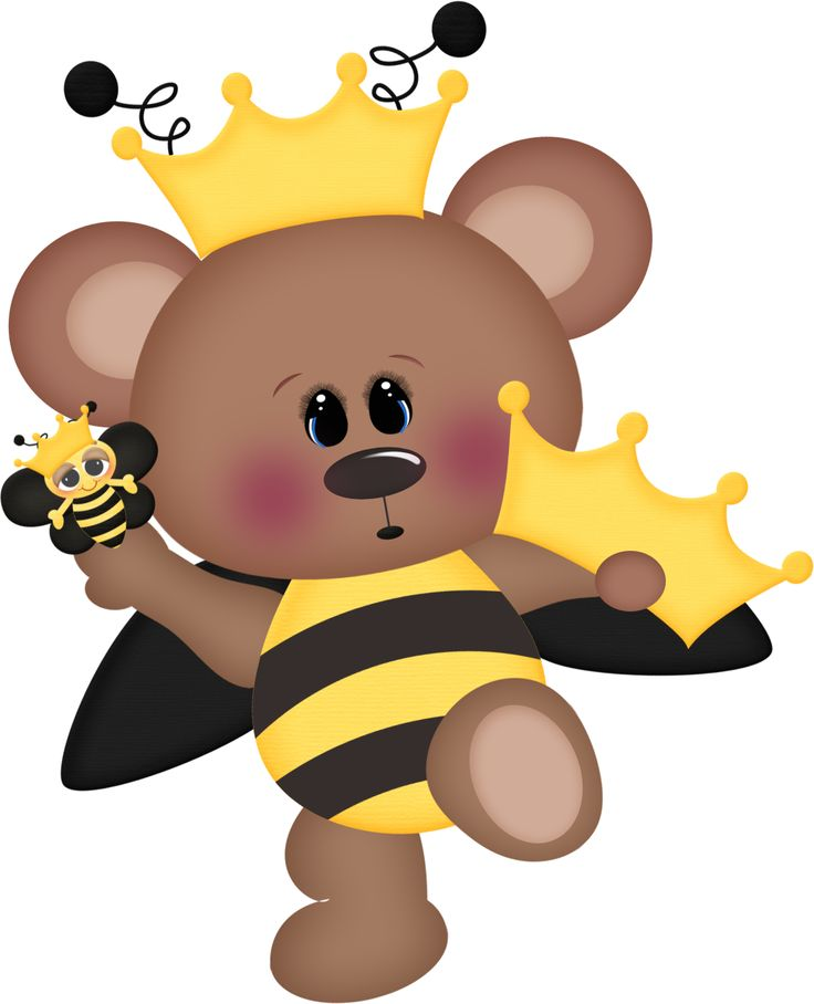 Bee clipart bear. Best images on