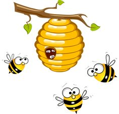 beehive clipart bee home